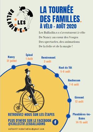 La tournée des familles. À vélo – août 2020