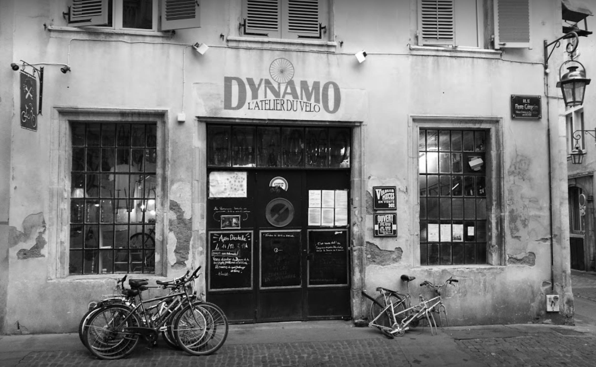 Devanture de l'atelier Dynamo